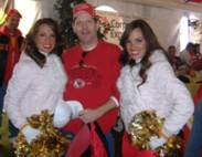 Scott with Cheer Leaders