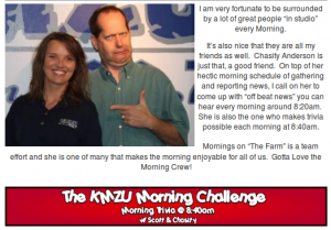 screenshot from KMZU's Morning Page