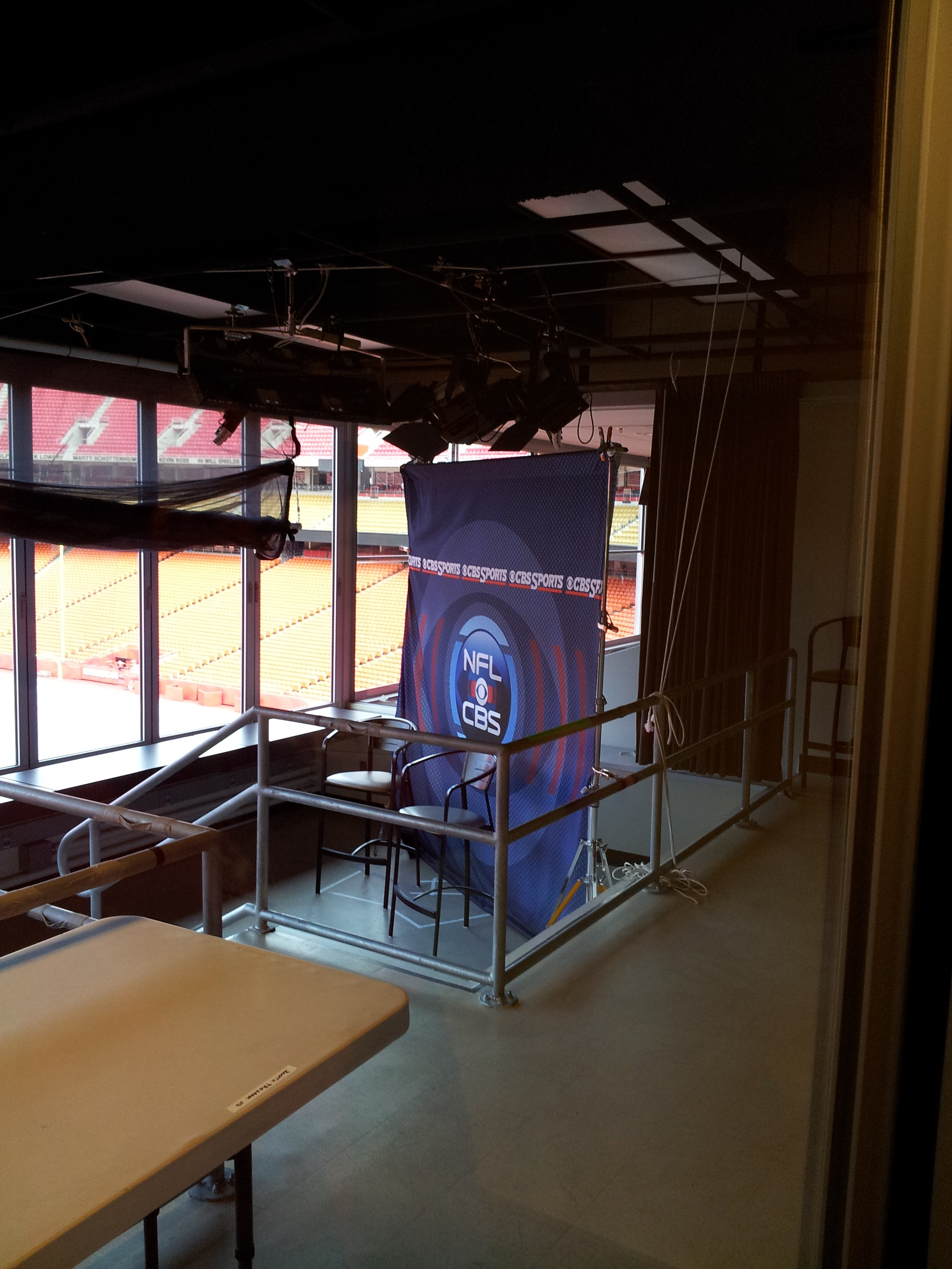 Television Broadcast Booth